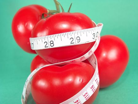 Measuring Tomatoes Stock Photo - 386544