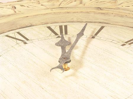 incominciare: Just Inizia! Kicking! (Wall Clock Close-up) Archivio Fotografico