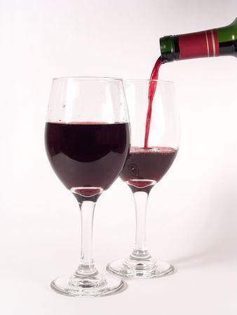 intense flavor: Wine Glasses Pouring