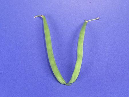roman beans: Vege-Number 5 (Roman) Stock Photo
