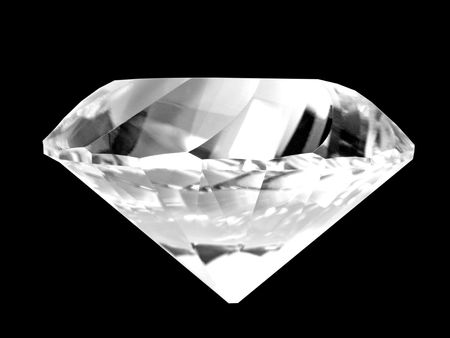 High-resolution digital color photography of a large diamond.  Dust free!  Brilliant color! photo
