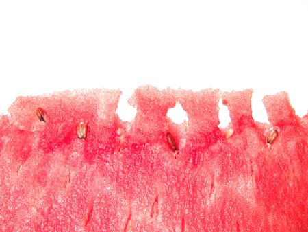 carotenoid: Juicy watermelon fresh close up view with space for text Stock Photo