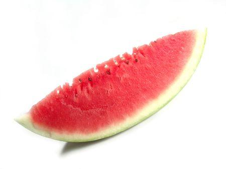 carotenoid: Juicy watermelon fresh close up with -shaped art
