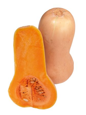 flesh: Macro view of butternut squashes showing ripe flesh