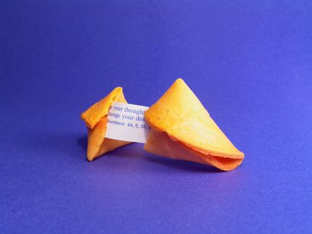 to foresee: Fortune cookie displays a destination message