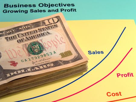 foresee: Corporate Sales - US currency and corporate sales performance Stock Photo