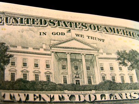 in god we trust: US Twenty Dollar Bills White House In God We Trust