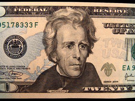 andrew: US Twenty Dollar Bills Andrew Jackson (Isolated)