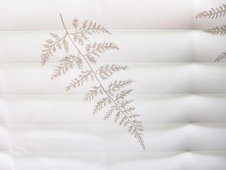 High-key abstract white lace curtain on white blinds background (high-resolution photo) Stock Photo