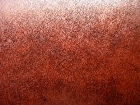 Very good texture of brown European sofa leather                                Standard-Bild