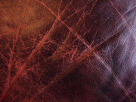 Very good texture of brown European sofa leather                                Stock Photo