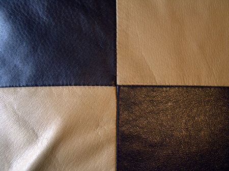 Very good texture of brown and ivory European leather cushion