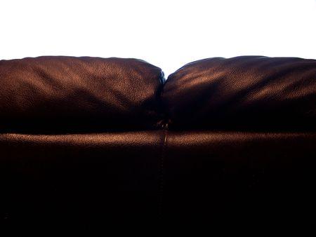 Achteraanzicht van een gigantische Italiaanse Sofa silhouet