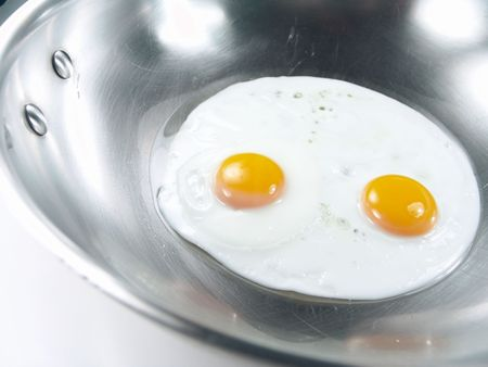 Fried Eggs Sunny Side Up Close-up Stock Photo - 2167360