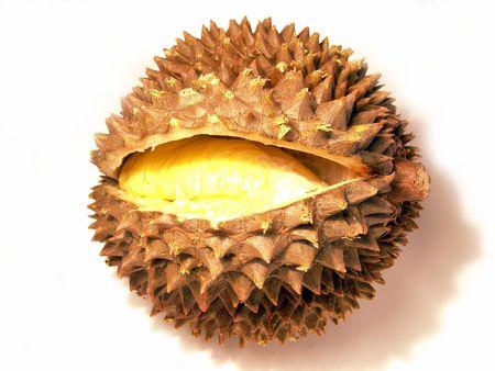 brilliant colors: Macro de vista maduro y jugoso durian (colores brillantes foto)