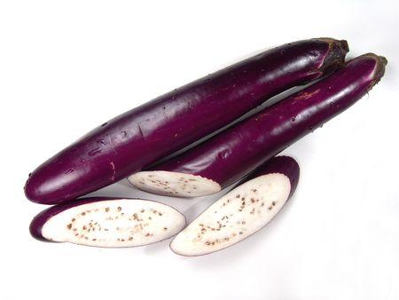 brilliant colors: Macro view of ripe Asian eggplant (brilliant colors photo) Stock Photo