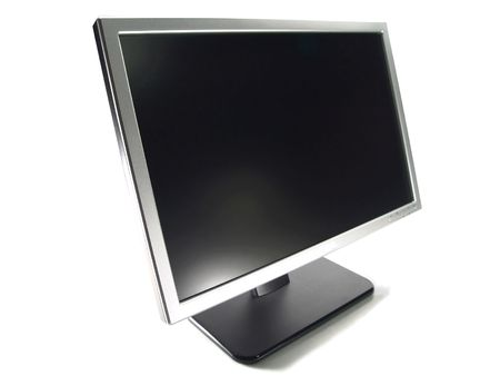 Wide Screen LCD Computer Monitor (Isolated on white background)