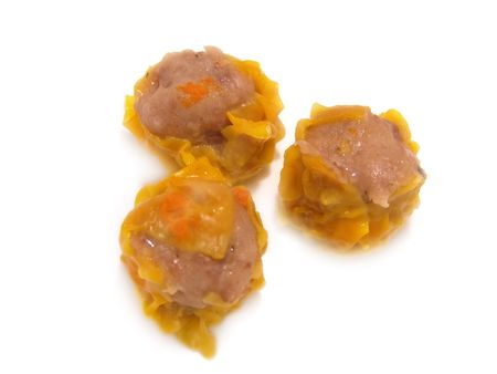 Closeup of isolated Chinese food dim sum dumplings