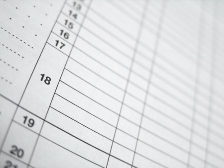 Tax Form or Spreadsheet Table close-up