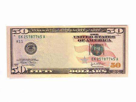 あなた自身の写真メモとして追加する空白米国 $50 銀行 (資産現金利益)