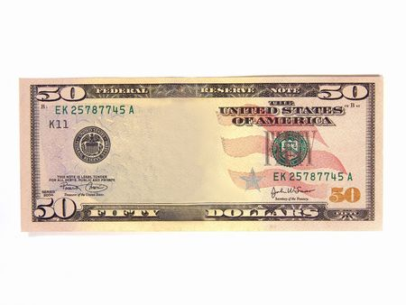 rebate: Add your own picture to a blank US $50 bank note (Asset Cash Profit)                     Stock Photo