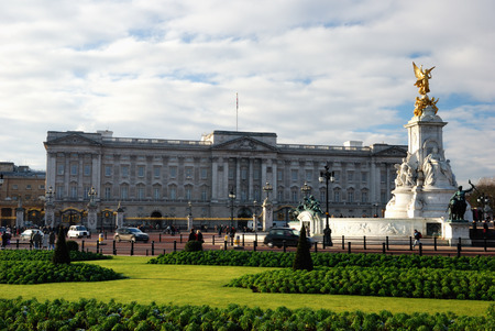 reigning: London, United Kingdom - January 05, 2010: Buckingham Palace. Buckingham Palace is the London residence and administrative headquarters of the reigning monarch of the United Kingdom.