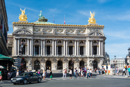 citytrip: Paris, France - August 13, 2016: The Palais Garnier a opera house, which was built from 1861 to 1875 for the Paris Opera. Editorial