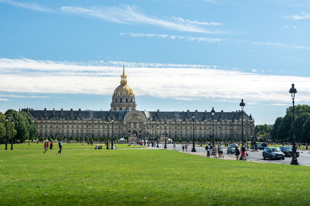 citytrip: Paris, France - August 14, 2016: The Musee de lArmée (Army Museum) is a national military museum of France located at Les Invalides in the 7th arrondissement of Paris. Editorial