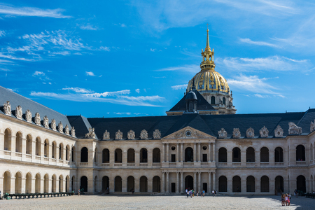 citytrip: Paris, France - August 14, 2016: The Musee de lArmée (Army Museum) is a national military museum of France located at Les Invalides in the 7th arrondissement of Paris.