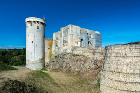 The Castle of Falaise, which overlooks the town from a high crag, was formerly the seat of the Dukes of Normandy. Editorial