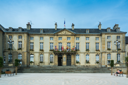 Bayeux, France - September 2, 2016: The town hall of Bayeux, France.