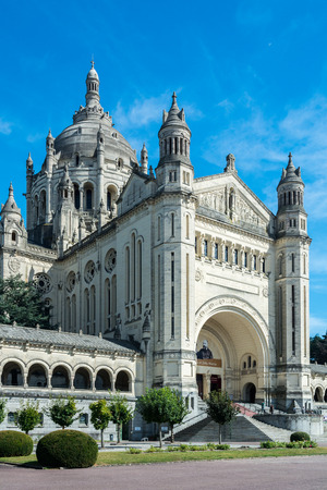 Lisieux, France - September 3, 2016: The Basilica of St. Therese of Lisieux is a Roman Catholic church and minor basilica dedicated to Saint Therese of Lisieux. Editorial