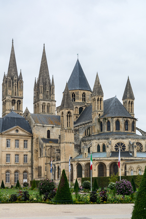 Caen, France - September 6, 2016: The Abbey of Saint-Etienne, also known as Abbaye aux Hommes by contrast with the Abbaye aux Dames, is a former Benedictine monastery in the French city of Caen. Editorial