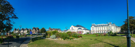 Cabourg, France - September 8, 2016: Cabourg is a commune in the Calvados department in the Normandy region of France. Cabourg is on the coast of the English Channel, at the mouth of the river Dives. Editorial