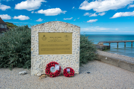Omaha Beach, France - September 9, 2016: Omaha Beach was the code name for one of the five sectors of the Allied invasion of German-occupied France in the Normandy landings on 6 June 1944, during World War II.