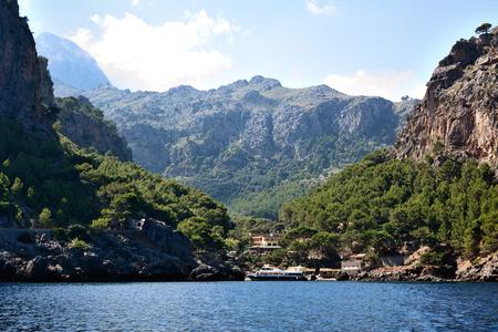 Sa Calobra, Majorca, Spain - September 6, 2013: Sa Calobra is one of the most beautiful place of the island of Majorca. Editorial