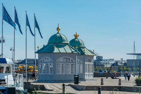 Copenhagen, Denmark - september 3, 2017: The Royal pavilions in Copenhagen are located near the harbor, near the  Gefion Fountain.