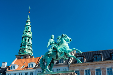 The equestrian statue of Absalon, the warrior-bishop who has traditionally been credited as the founder of Copenhagen. It was inaugurated in 1901 to commemorate the septcentennial of his death.