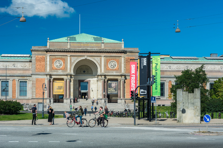Copenhagen, Denmark - september 3, 2017: The National Gallery of Denmark (Statens Museum for Kunst, also known as SMK) collects, registers, maintains, researches and handles Danish and foreign art dating from the 14th century to the present day.