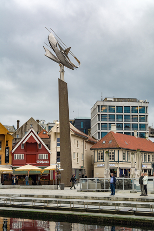 Stavanger, Norway - September 7, 2017: Stavanger is the third-largest urban zone and metropolitan area in Norway. Stavangers core is to a large degree 18th- and 19th-century wooden houses that are protected.