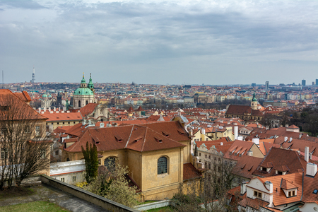 Prague is the capital and largest city in the Czech Republic. This is a view from the top of the city Фото со стока