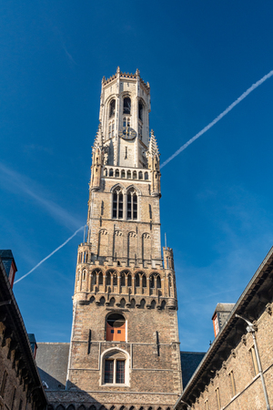 The Belfry of Bruges (Belfort van Brugge) is a medieval bell tower in the centre of Bruges. A narrow, steep staircase of 366 steps leads to the top of the 83m high building.