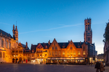 Bruges, Belgium - October 5, 2018: Bruges is the capital and largest city of the province of West Flanders. The historic city centre is a prominent World Heritage Site of UNESCO.