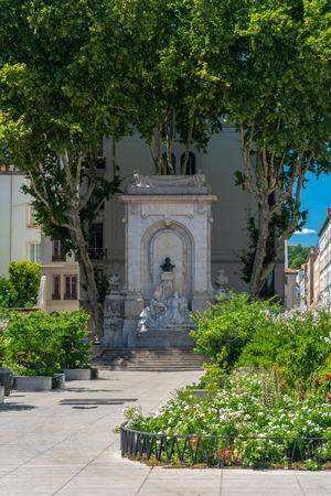 Lyon, France - July 18, 2018: Gailleton monument in Lyon sculpted by Andre Cesar Vermare in 1913. It is located on the square Gailleton. Editorial