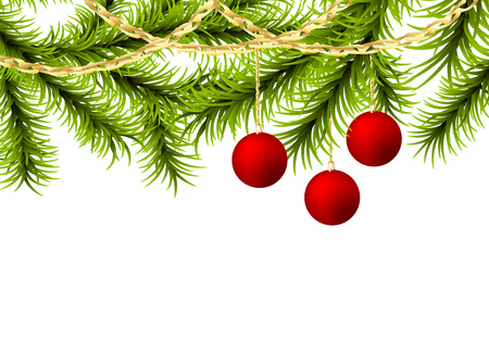 Christmas tree ball golden garland.