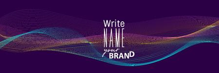 Horizontal neon blend business banner Ilustração