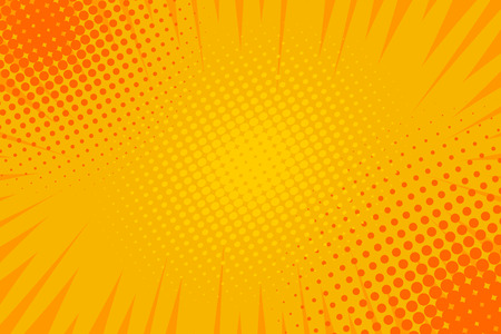 Komiks pop-artowy pasek promieniowy w tle