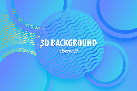 Paper cut neon ultra violet abstract 3d web trendy background. Realistic papercut banner random square circle layers. 3d backdrop. Concept material design. Minimalist cover template. Golden color.  イラスト・ベクター素材