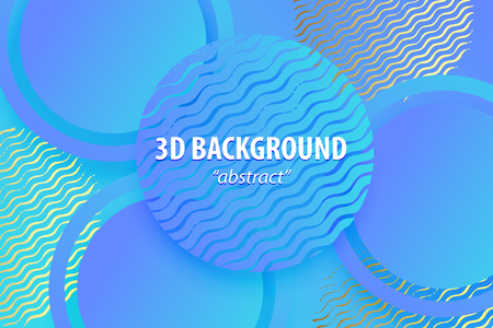 Paper cut abstract 3d web trendy background  イラスト・ベクター素材