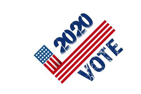 2020 Vote dans la carte de bannière du président américain des États-Unis Vecteurs